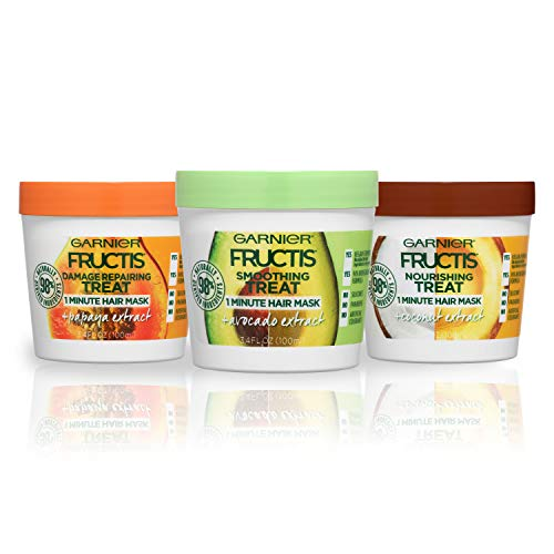 Garnier Hair Care Fructis Treats Variety Hair Masks with Nourishing Coconut, Damage Repairing...