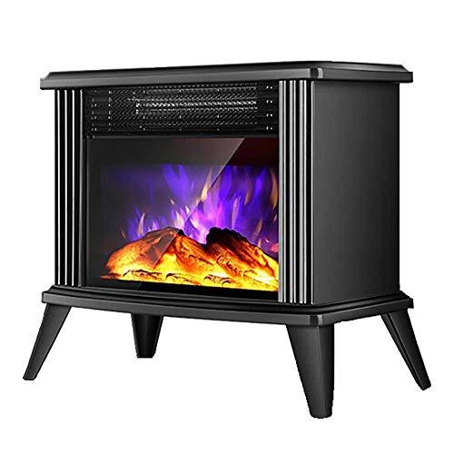 XIANGAI Calefactor Cocina eléctrica Efecto de la Llama 3D Realista de Seguridad 2000 W termostato Chimenea Chimenea eléctrica portátil en la Zona Libre de Fuego de pie fireplaceselectric