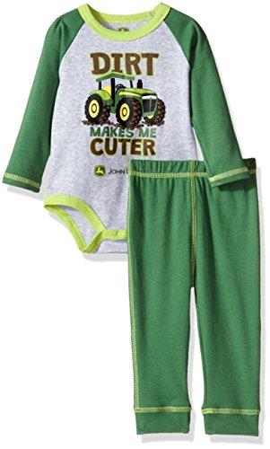 John Deere Baby Boys' 2 Piece Bodysuit and Pant Set