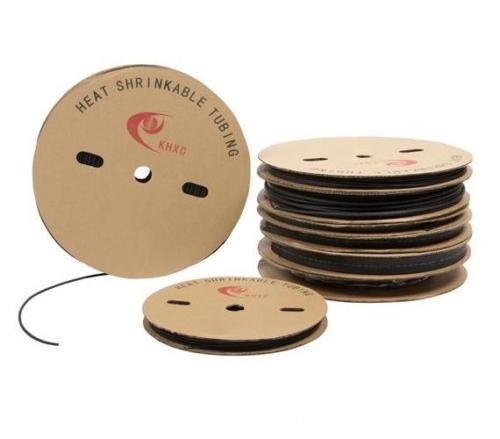 Rolle Schrumpfschlauch Schwarz in 1,5mm 2,5mm 4mm 6mm 10mm 15mm 20mm Schrumpfverhältnis 2:1 (10mm / 100m)