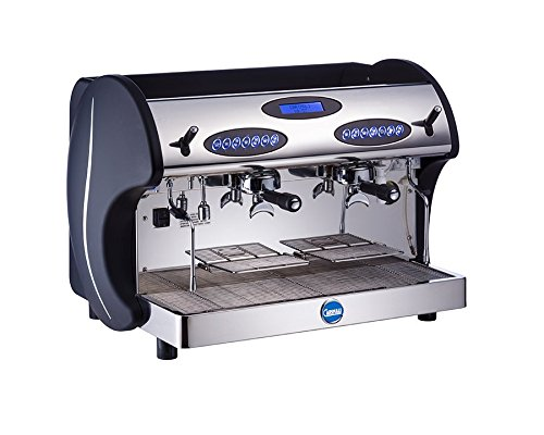 Carimali Espressomaschine Kicco 2-gruppig, Siebträger inkl. CF Espresso