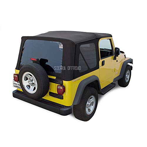 Sierra Offroad Soft Top for The 2003-2006 Jeep Wrangler, Sailcloth Vinyl, Black