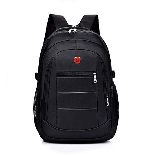 New Business Computer Backpack Men's Simple Nylon wear-Resistant Solid Color Backpack Student Schoolbag Men