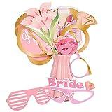 SOSPIRO 21 piezas de accesorios para fotos de boda, para mujer, color oro rosa, para despedida de soltera