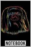 Notebook: Colourful Pekingese Dog 100 page 6x9 inch