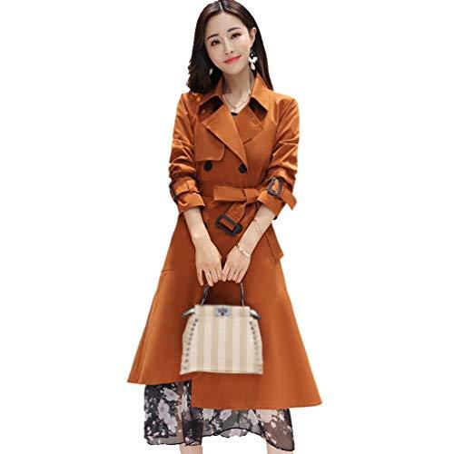 Crystallly vrouwen Trench Coat Mode Elegante Lapel Coat Stijlvolle Longsleeve Transitie Unieke Lange Slanke Effen Kleur Casual Moderne Stijl Exquisite Coat Parker Coat Lente Herfst