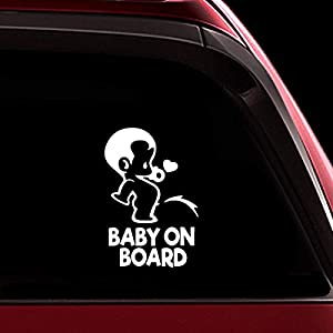 TOTOMO Baby on Board Sticker – Funny Cute Safety Caution Decal Sign for Cars Windows and Bumpers – Peeing Boy ALI-034