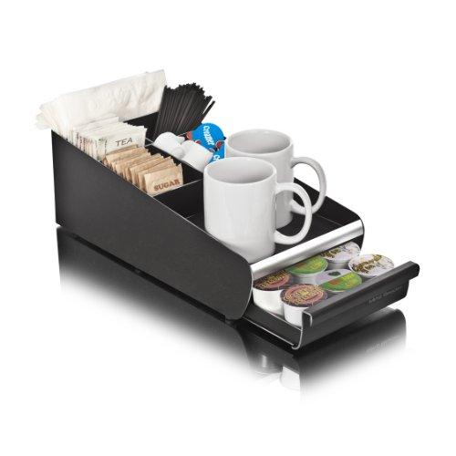 Mind Reader Condiment Storage K-Cup Single Serve Coffee Pod Drawer One Size Black Organizer