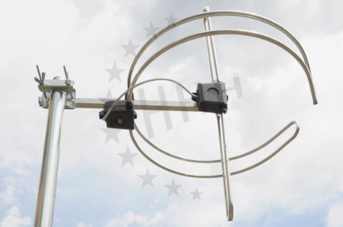 UKW Ringdipol Rundantenne FM-Antenne kombiniert mit DAB+ Antenne 1 Element 3H-DAB-FM mit F-Anschluss