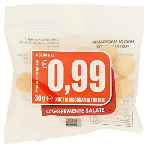 Noci di macadamia tostate leggermente salate 0,99 - 30 gr - [confezione da 10]