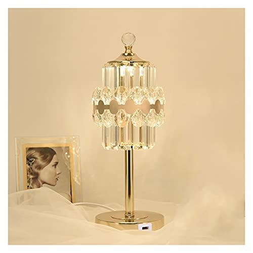 Lamparilla de noche Crystal Touch Control Lámpara de mesa de mesa de...