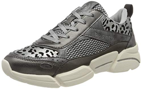 bugatti Damen 432668035050 Slip On Sneaker, Grau (Dark Grey/Animal Print 1182), 38 EU