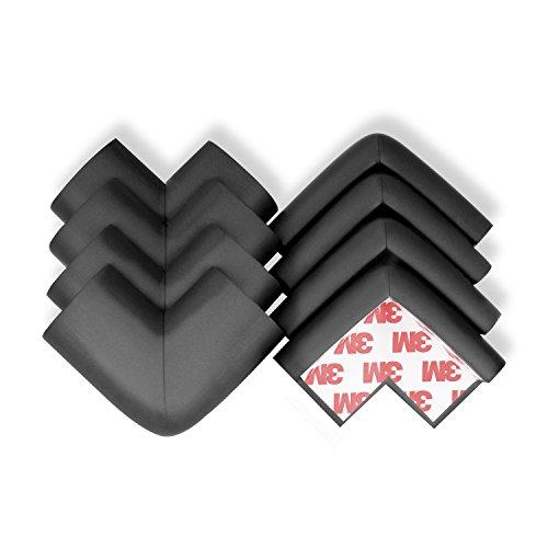 Protectores de esquinas y bordes para niños – Protector de mesa de alta densidad a prueba de bebés y protectores de esquinas y bordes de seguridad negro negro Talla:8Corners