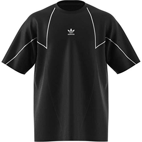 adidas Originals Big Trefoil - Camiseta abstracta para hombre - Negro - Large