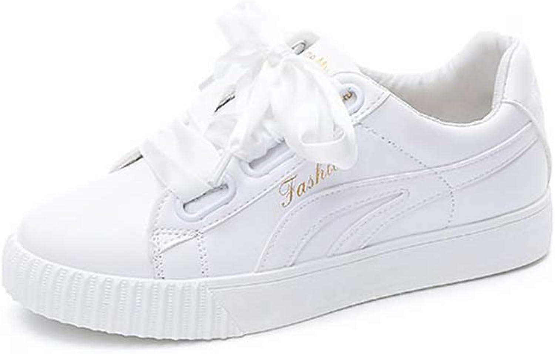 He-yanjing Women's Casual shoes Ribbon White shoes Platform Women's shoes Autumn Winte