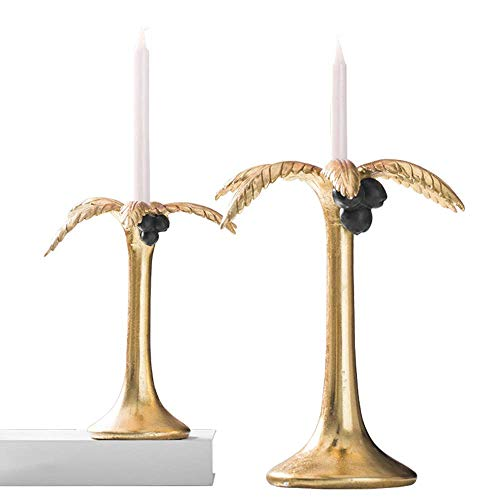Dpliu Simple Romantic Candle Holder, Creative Coconut Tree Home Ornaments - Tall Candle Holder Wedding Event Candelabra Candle Stand