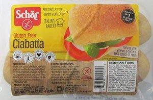 Dr. Schar Ciabatta Parbaked Gluten-Free Bread Rolls pack of 3