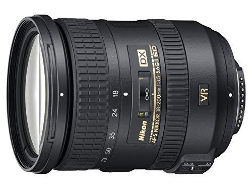 Nikon AF-S DX Nikkor 18-200mm 1:3,5-5,6 G ED VR II Objektiv (Bildstabilisator, 72 mm Filtergewinde) (Generalüberholt)