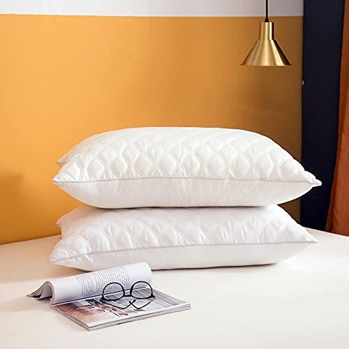 Almohada, Almohada de Diseño Ergonómico, Adecuada para Todos los Durmientes -Blanco Puro_50x75cm