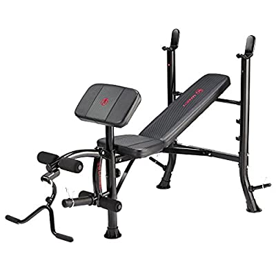 Marcy Eclipse BE1000 Barbell Weight Bench - Black/Red by Accell Fitness