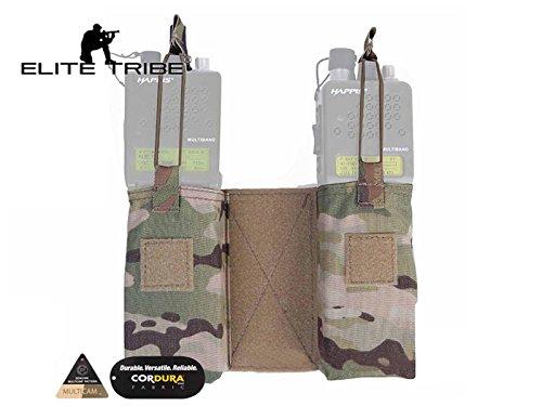 Elite Tribe MOLLE JPC MBITR Radio Pouch Set Utility Military Double Sub Bag