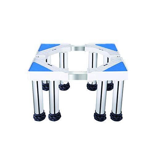 Soporte para Lavadora/Secadora/Refrigerador Base con 8/12 Pies Ajustable de largo 40-74cm ancho 48-66cm Pedestal y Marco para Neveras Alta Resistencia Acero Inoxidable Base