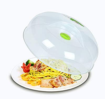 Microwave Splatter Cover for Food Plate Cover Guard Lid With Steam Vent and BPA Free 11.5 Inch?Dishwasher Safe