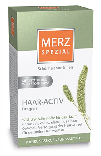 Merz Spezial Haar-Activ Dragees – Kombipräparat für gesundes volles glänzendes Haar – 120 Stück für 1 Monat [Nahrungsergänzungsmittel]