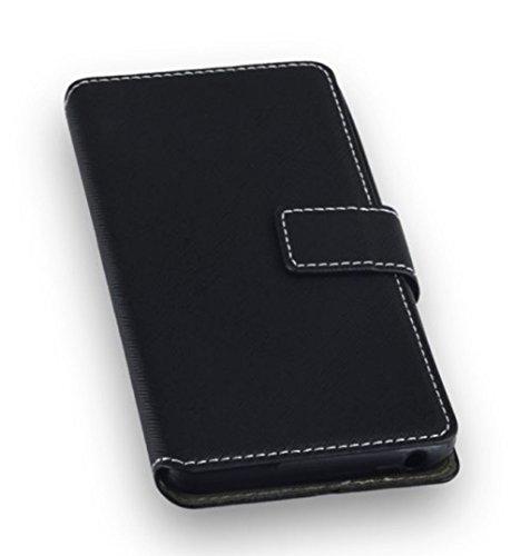 'Etui Housse de haute qualité style livre Flip Case Noir pourWiko Lenny 3 Housse Coque Étui Book Case Cover
