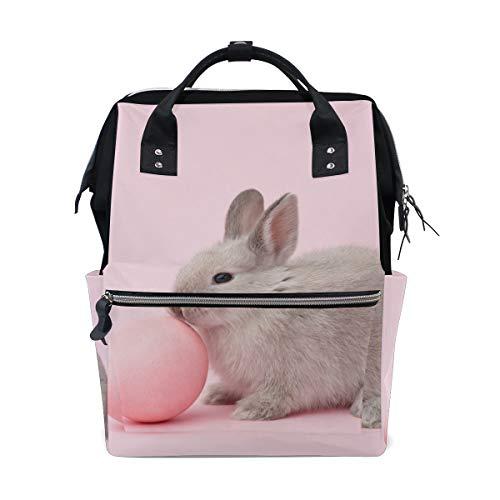 Paashaas met ei roze luiertas rugzak voor mama grote unisex luiertassen babyverzorging reisrugzak outdoor school laptoptas