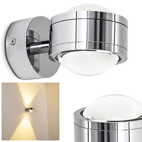 Wandarmatuur met een eenvoudig design - IP44 Wandspot - Tijdloze wandlamp met 6 Watt in warm wit licht - Up en Down Wandspot met twee lichtkegels boven en onder