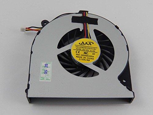 vhbw Ventilador CPU/GPU con Clavija de 4 Pines Compatible con Toshiba Satellite C850, C850D, C855, C855D, C870, C870D, C875 Notebook, portátil