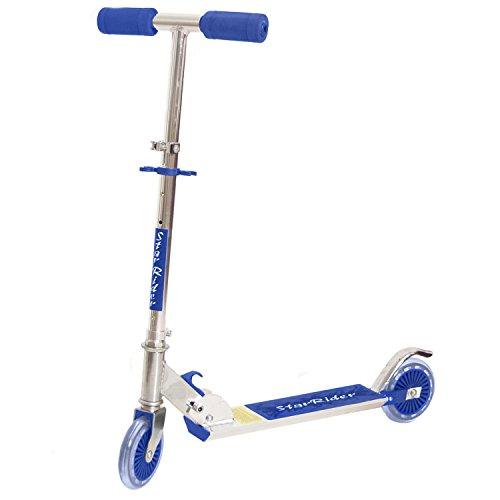 Brubaker Kinder Scooter Aluroller Big Wheel 125 mm Metallic Blau