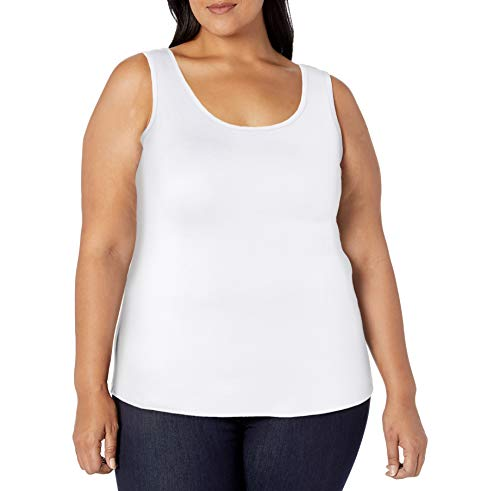 Amazon Essentials Plus Size Tank Fashion-t-Shirts, weiß, 1X