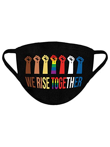 We Rise Together Mask USA BLM LGBT Reusable Mask Cloth Face Mask Washable Face Mask We Rise Together