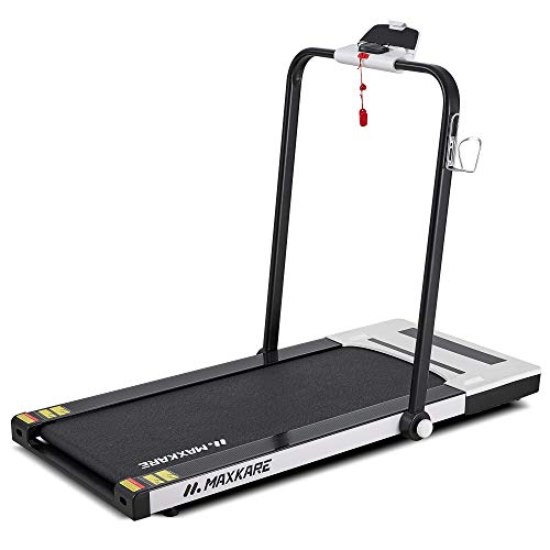 MaxKare Folding Treadmill 2 in 1 Running & Walking Treadmill Electric Treadmill Running Machine with 2.2HP Motor Remote Control & Large LCD Display for Home Office Use