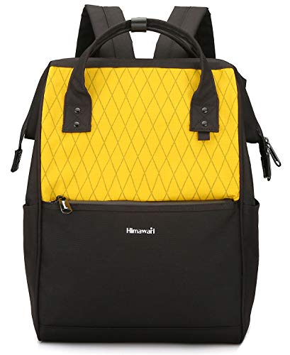 Himawari Laptop Backpack Travel Backpack With USB Charging Port Large Diaper Bag Doctor Bag School Backpack for Women&Men (0711-Yellow)