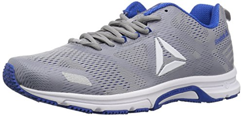 Reebok Men's Ahary Runner Running Shoe, White/Cool Shadow/Vital b, 12 M US