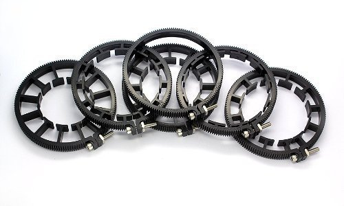 Cinematics Dslr Camera Lens Set 6 Lens Gear Ring for Follow Focus Belt 60~116mm for Dslr Pro Mod 0.8 Black New