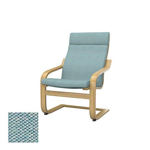 Soferia - IKEA POÄNG Funda para sillón, Nordic Sea Green