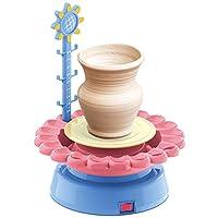 電気陶器ホイールアートクラフトキット、アートとクラフトキッズおもちゃ陶器成形機クラフトペイントパレットセット教育玩具ホームスクール