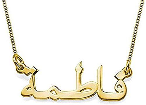 OPALSTOCK Arabische Namenskette 925er Silber- Personalisiert mit Ihrem eigenen Namen (Gold)