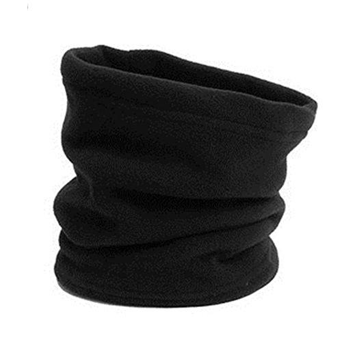 Fleece-Schal, Rundschal, für Winter, Sport, Wandern, Polarfleece, schwarz, Einheitsgröße