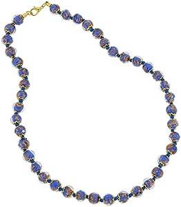 GlassOfVenice - Collar de Cristal de Murano, Color Azul