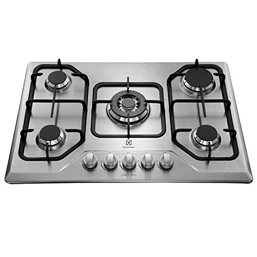 Cooktop GT75X à gás com mesa em aço inox e queimador tripla-chama BIVOLT