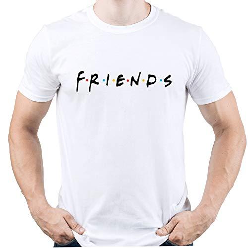 Friends TV Logo Friends TV Show Camiseta para Hombre Blanco M