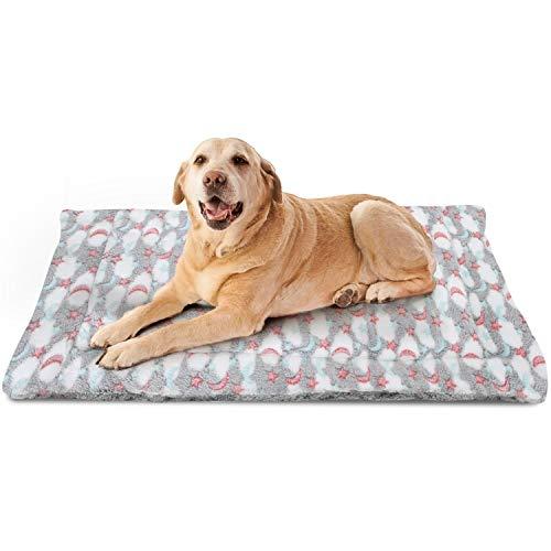 Nobleza Cama para Perros, colchoneta para Mascotas, Pata pequeña impresión paño Grueso y Suave Manta Suave Estera del Animal doméstico, Lavable (L,Gris)