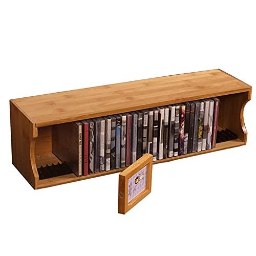 Soporte organizado para discos de juegos de escritorio en rack de DVD / PS4 para sala de estar, marco de almacenamiento de CD de gran capacidad para la oficina en casa ( Color : 55.5*14.5*20cm )