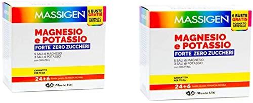 Massigen, Magnesio e Potassio Forte, Integratore 24+6 Bustine Gratis (2)