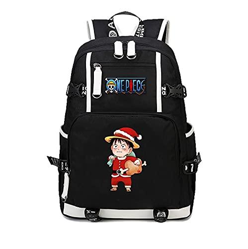 One Piece Japón anime One Piece Luffy mochila de dibujos animados mochila informal adolescentes hombres mujeres estudiantes mochilas escolares mochila femenina masculina